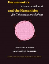 Hermeneutics and the Humanities / Hermeneutik und die Geisteswissenschaften