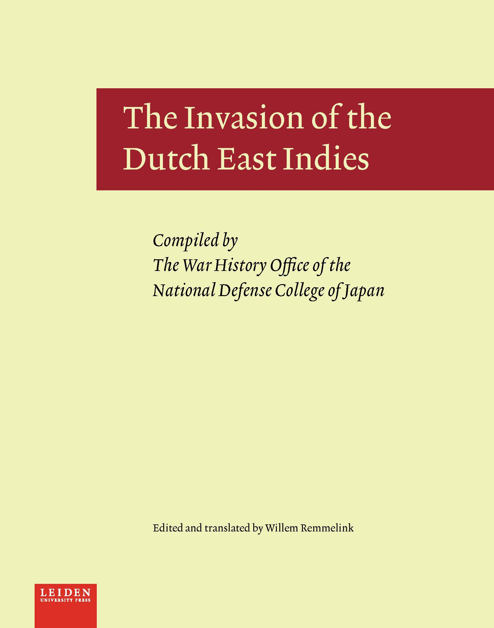 The Invasion of the Dutcch East Indies