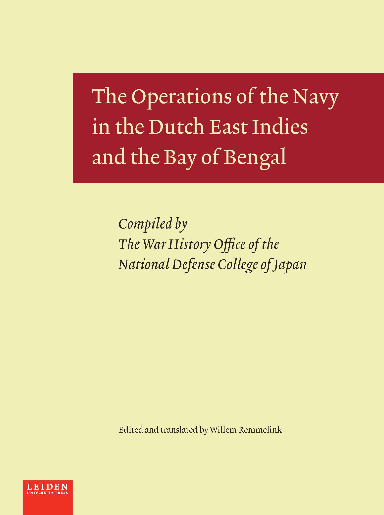 Cover The Operations of the Navy in the Dutch East Indies